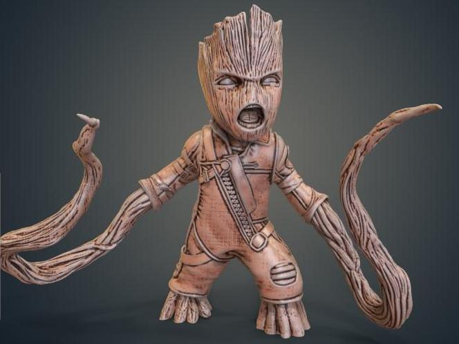 Ravager Groot 8 Inches Tall
